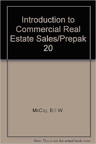 Download online Introduction to Commercial Real Estate Sales/Prepak 20 PDF, azw (Kindle), ePub