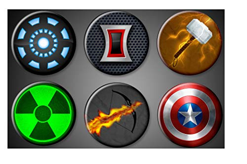 Avengers Magnets Marvel Captain Amercia Hulk Magnet Iron man Black Widow Thor Hawkeye Magnet ()