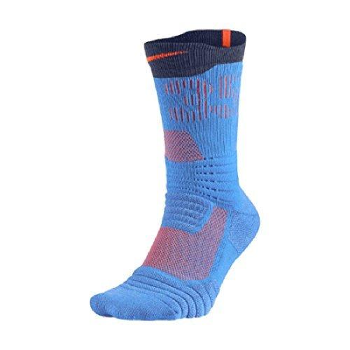 Nike Men's Elite KD Versatility Crew Basketball Socks (Medium 6-8, Photo Blue/Black/Team - Socks Nike Black Orange