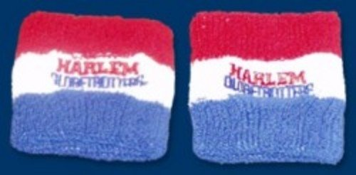 Harlem Globetrotters Emboidered Wristbands - Red/White/Blue
