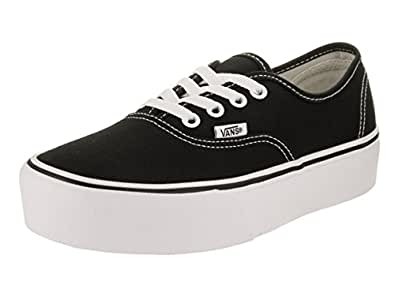 Vans Unisex Authentic Skate Shoe Black 35 M EU / 4 D(M) US