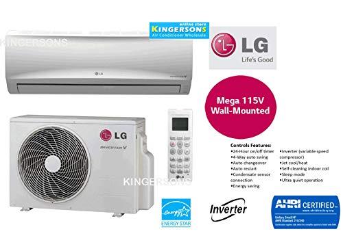 LG TON 12000 BTU SEER 17 Mega Series 115V Single Zone Heat and Cool Mini Split AC Heat Pump System (Lg Split Heat Pump)