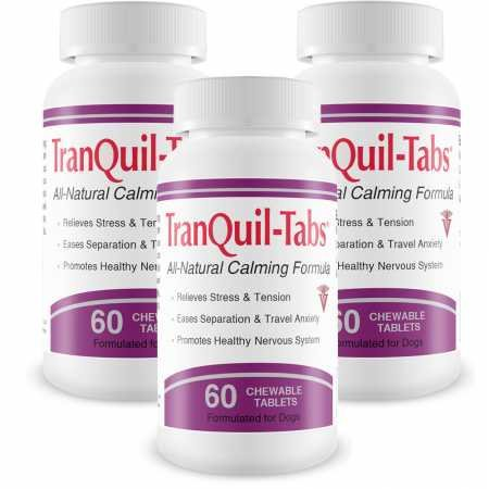 3 PACK TranQuilTabs for Dogs (180 Tablets)