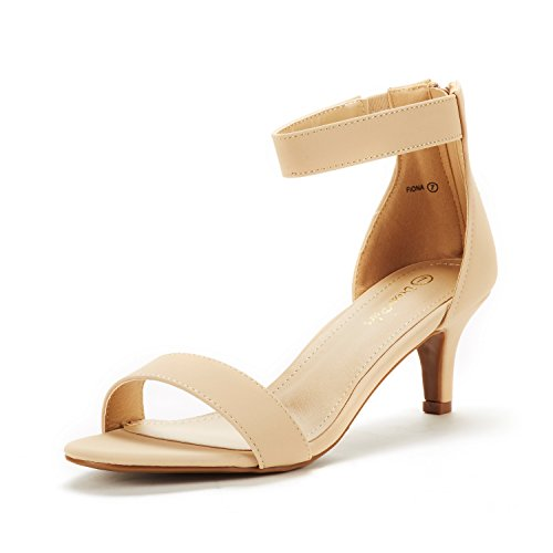 DREAM PAIRS Women's Fiona Nude Nubuck Fashion Stilettos Open Toe Pump Heeled Sandals Size 9.5 B(M) US ()