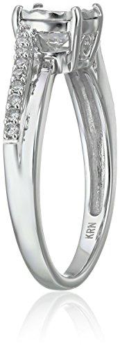 Round Diamond Bridal 14k White Gold Engagement Ring (3/4cttw, H I Color, I1 I2 Clarity), Size 7