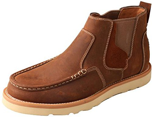 Image of Twisted X Men's Casual Pull-On Shoes Moc Toe Brown 8 D(M) US