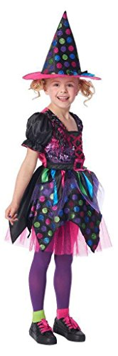Kids Sequin Witch Dress and Hat Halloween Costume (M (Target Girls Witch Costume)