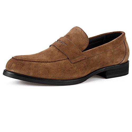 Jeunes LYZGF Brown Paresseux en Chaussures Été Cuir Conduite Hommes Casual Mode PPwTx5rq