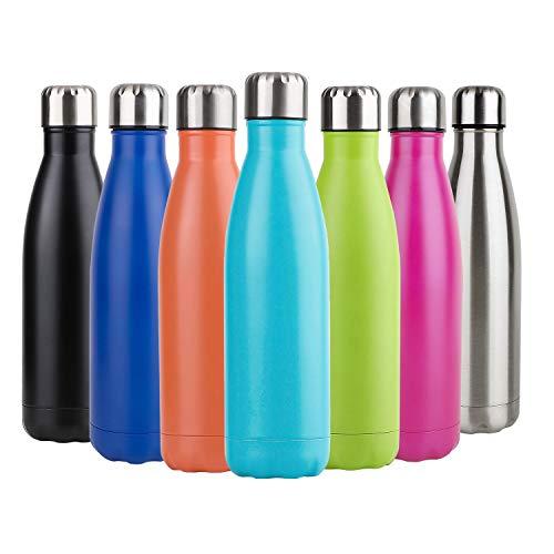 Hotchy Edelstahl Trinkflasche, Vakuum Isolierte Thermosflasche, BPA Frei 500ml/ 750ml Wasserflasche Auslaufsicher Thermoskanne für Kinder, Schule, Sport, Outdoor, Fahrrad, Fitness, Camping