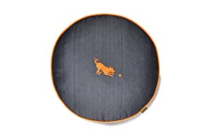 B005745BUIXW P.L.A.Y. Round Bed with Eco-Friendly Filler and 100-Percent Cotton Cover, Large, Orange/Denim