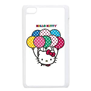 Hello Kitty With Balloons iPod Touch 4 Case White&Phone Accessory STC_045842