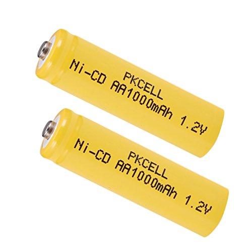 AA Ni-Cd Rechargeable Battery 1.2V 1000mAh for Outdoor Solar Garden Light (2pcs Button top)