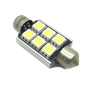 Zesfor® Bombilla LED Festoon Can Bus 41mm - Tipo 80: Amazon.es: Coche y moto