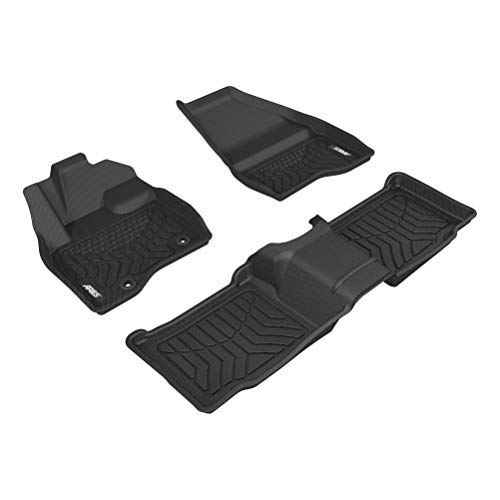 ARIES 2802509 StyleGuard XD Black Custom Truck Floor Liners for Ford Explorer, 1st and 2nd Row ()