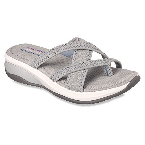 nbsp;excellence Skechers Mules Femme Grey Promotes qBpp4