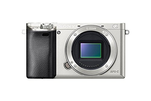 Sony Alpha a6000 Mirrorless Digital Camera 24.3MP SLR Camera with 3.0-Inch LCD – Body Only (Silver) For Sale