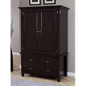Amazon Com Armoire Wood 4 Drawer Wardrobe Closet Tv