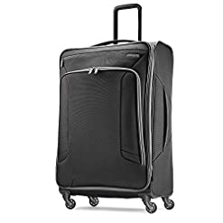WMB Travel Pro 415Ip5hdGVL._SS247_ American Tourister 4 Kix Expandable Softside Luggage with Spinner Wheels, Black/Grey, Checked-Large 28-Inch