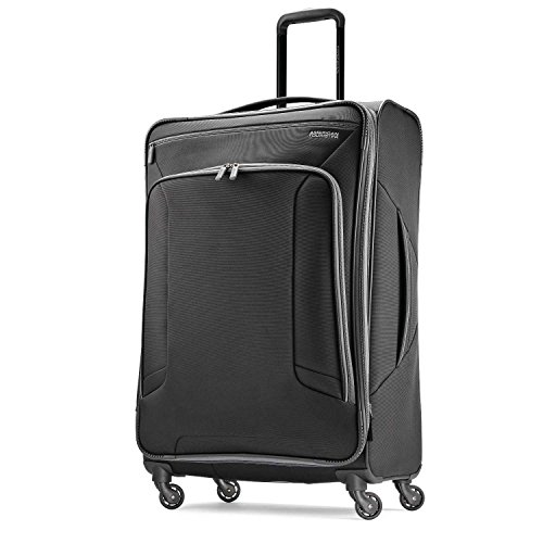 American Tourister Checked-Large, Black/Grey American Tourister Lightweight Suitcase