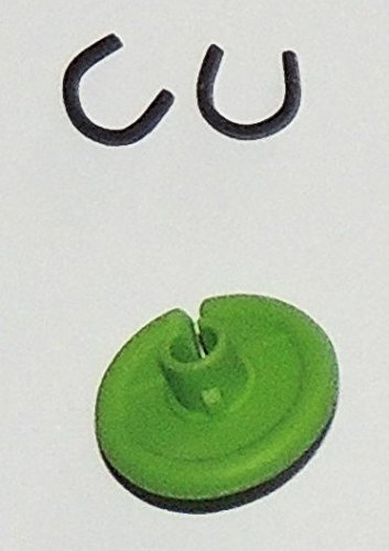 Super Flex KISSER Button - 2 PACK - The Ultimate Bowstring Kisser - Flexible Soft Comfort - 9/16'' Diameter - Available in 9 Colors By Cir-Cut Archery (LIME GREEN)