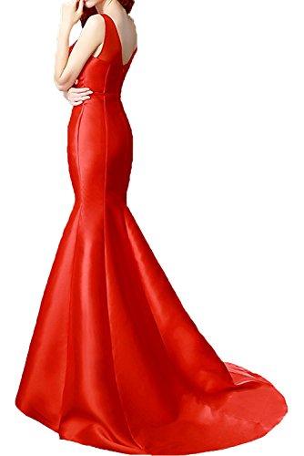 Kleider Abendkleider Schmaler Standsamt Weinrot Spitze mia Figurbetont Satin Formalkleider La Meerjungfrau Schnitt Ballkleider Braut qUzf1STwXn