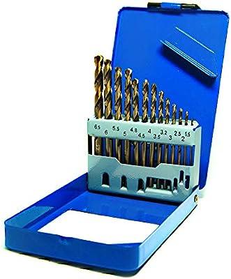 S&R Juego de brocas HSS COBALTO Rectificadas para metal 1,5-6,5 mm ...