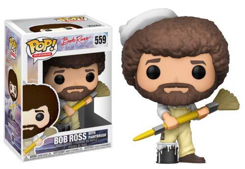 Funko POP! TV: Bob Ross - Bob Ross in Overalls Collectible Figure from Funko