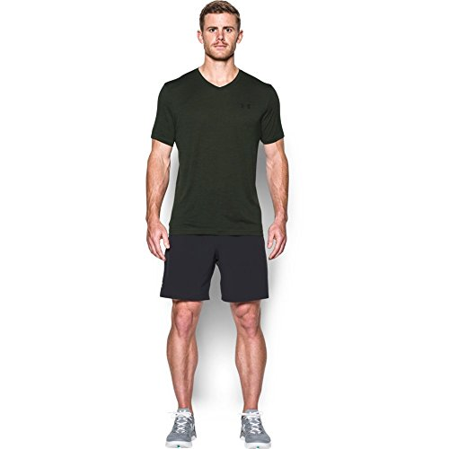 Under Armour Men's Tech V-Neck T-Shirt, Artillery Green (357)/Black, XXX-Large Tall by Under Armour