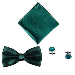 Juego de 3 piezas de corbata de color sólido para boda, negocios ...