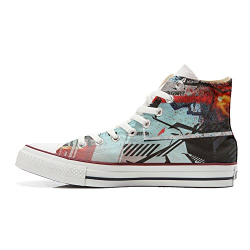 Street Unisex producto All Style Zapatos Star Personalizados Converse Handmade fPRq0
