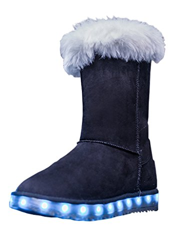SPN Women's Snow shoes LED light shoes warm shoes USB charging Flashing boots