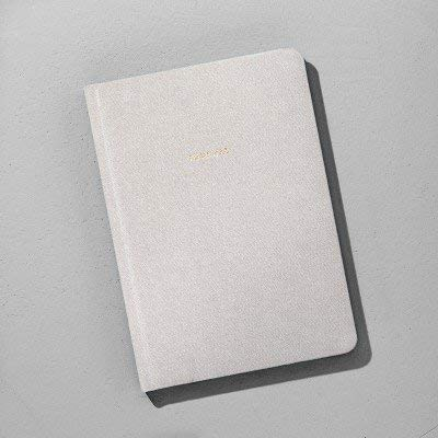Lined Fabric Journal - Grey - Hearth & Hand153; with Magnolia Gray