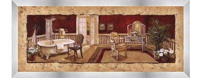 Charlene 's Bath I by Greg Olsen – 20 x 8インチ – アートプリントポスター LE_446796-F9935-20x8 B01MTYLQF4 Stainless Steel Wood Frame Stainless Steel Wood Frame
