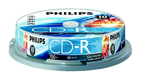 Philips 700 MB C-Dr 10Ct Spindle (CR7D5NP10/17) by Philips (Image #2)