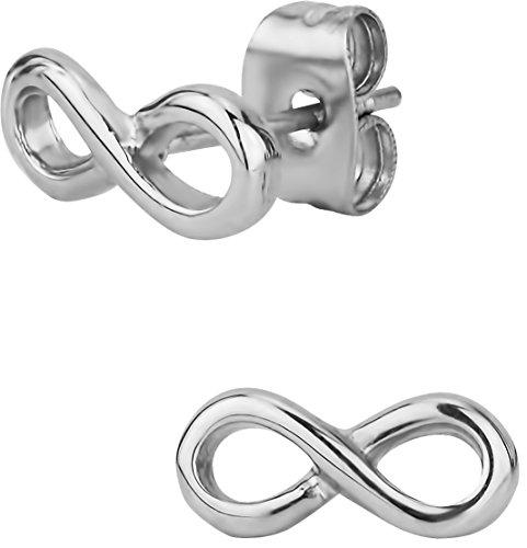 Stainless Steel Infinity Symbol Stud Earrings for Kids