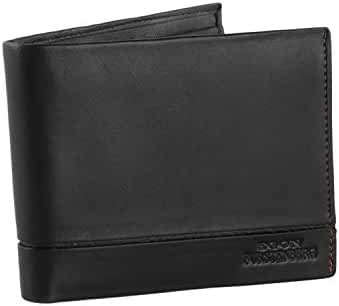 Wallet man EGON FURSTENBERG black in leather with flap and coin purse VA316