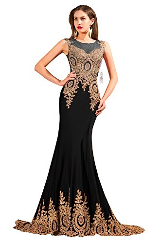 Buy long black lace dress next - 7