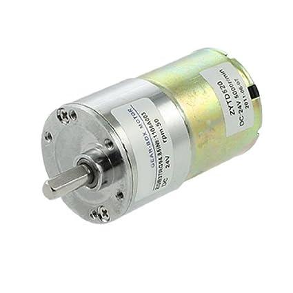 Amazon.com: DealMux DC 24V 0.33A 50rpm 6 milímetros Dia Shaft elétrica velocidade Reduzir Gearbox Motor: Automotive