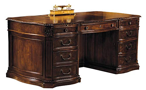 Hekman Furniture Executive Desk in Old World Walnut Burl Finish - 7-9160 (Hekman Executive Desk)