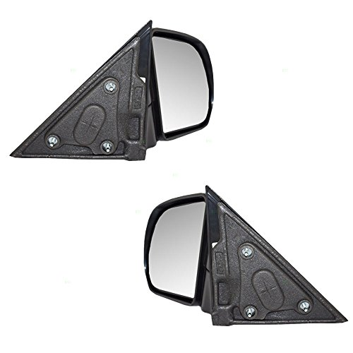 Driver and Passenger Manual Side View Mirrors Textured Replacement for Chevrolet GMC Isuzu Pickup Truck SUV 15193316 15172864 AutoAndArt