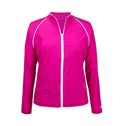 UV SKINZ UPF50+ Womens Water Jacket-Hot Pink-L ()