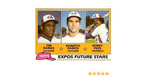 1981 Topps Baseball 479 Tim Raines Rookie Card