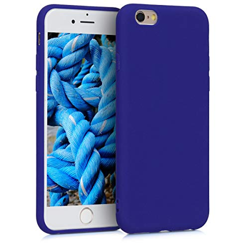 kwmobile TPU Silicone Case for Apple iPhone 6 / 6S - Soft Flexible Shock Absorbent Protective Phone Cover - Royal Blue