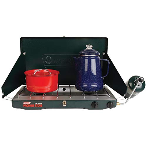 Coleman Gas Stove | Portable Propane Gas Classic Camp Stove with 2 Burners