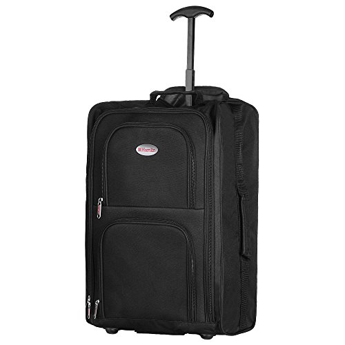 Hand Luggage Cabin Bag Trolley with Wheels Flight Bags Suit CASE for EASYJET, RYANAIR, British Airways, Virgin, FLYBE…