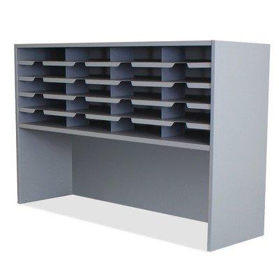 Mailroom 20 Pocket Sorter/Riser Finish: Slate Gray