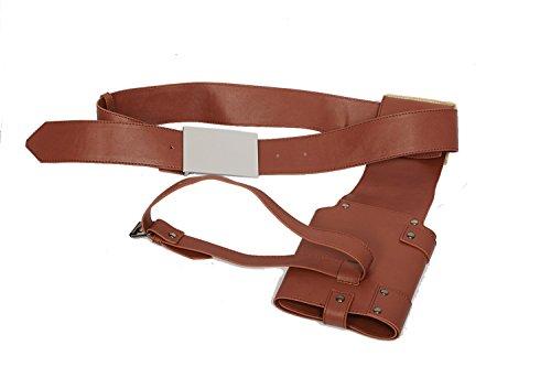 Xcoser Poe Dameron Belt Deluxe Brown PU Belt Holster Buckle Cosplay Costume Accessory Prop