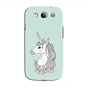 Cover it up Rainbow Unicorn Samsung Galaxy S3 Hard Case - Turquoise