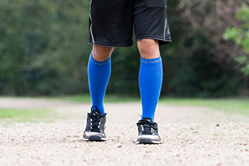 Compression Socks for Men & Women – BEST Medical Grade Graduated Recovery Stockings for Nurses, Maternity, Travel, Running, Leg Relief, Prevent Swelling, Calf Pain, Shin Splints (Blue,XL) by Run Forever Sports (Image #7)