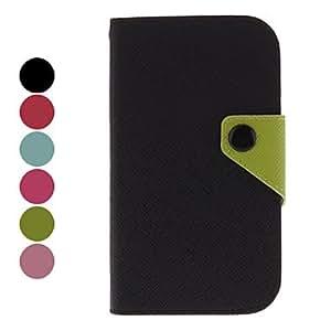 conseguir Color Matching caso protector de cuero de la PU para Samsung Galaxy S4 i9500 (colores surtidos) , Rosa